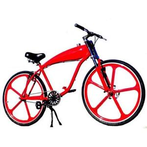 T4B Motorized Bike Kit Ready Complete Bicycle w. Mag Wheels 80cc
