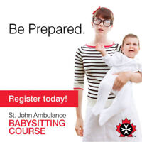 St. John Ambulance Babysitting Course **SPRING SALE**