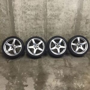 "Genuine Toyota Scion TRD 18"" Silver Alloy Wheels 5x100mm"