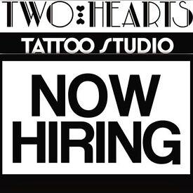 Two Hearts Tattoo Studio FULL TIME Receptionist/Studio Hand **NOT A APPRENTICESHIP**