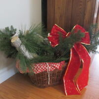 Christmas birch and pine basket (wicker)