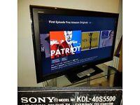 "Sony KDL-40S5500 TV 40"" Full HD 1080p LCD screen"