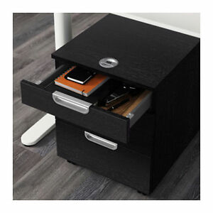 IKEA GALANT DRAWER UNIT on CASTERS - Black-Brown