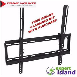 """Prime Mounts PMD T100x Tilt Wall Mount display (23"""" - 46"""") up to 100 lbs - Bonus $30 Cleaning Kit with all Prime Mounts"""
