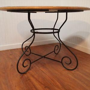 Belle Table Ronde Bois & Métal - Nice Wood & Metal Round Table