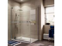 Brand New Cooke & Lewis Grandeur Left Hand Shower Enclosure Tray & Waste Kit 1400x900mm