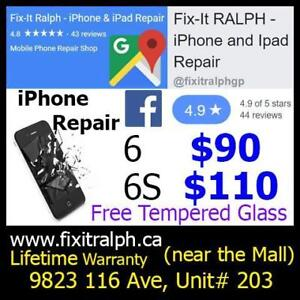 iPhone Screen & Battery Repair 5 5S SE 6 6+ 6S 6S+ 7 7+ iPad Glass Screen Repair iPhone Case and Tempered Glass Screen