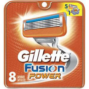 8 GENUINE GILLETTE FUSION POWER SHAVING RAZOR CARTRIDGES BLADES