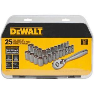 "dewalt dwmt72162 25 Piece 1/2"" Drive Socket Set neuffffffff"