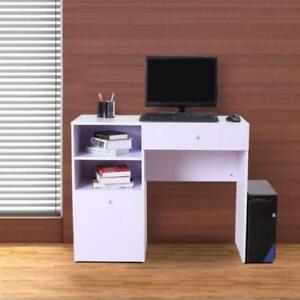 White Modern Wooden Computer Desk / Laptop Home Office Student