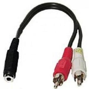 4in. TechCraft 3.5mm Female to 2RCA Male Audio Y-Splitter Cable