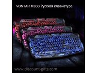 Vontar M200 3 Colours Backlight Wired Gaming Keyboard