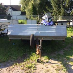 2001 Used Northtrail Open Double Snowmobile Trailer