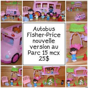 Parc et Autobus / F-Price /  rose Princesse / complet / 25$