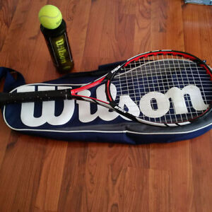 PRINCE WARRIOR 100L ESP TENNIS RACQUET WITH WILSON CARRY BAG