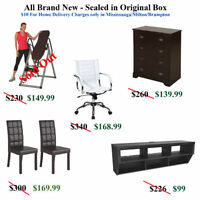 Factory Sealed - Brand New Chairs Tables TV Console Drawer Chest