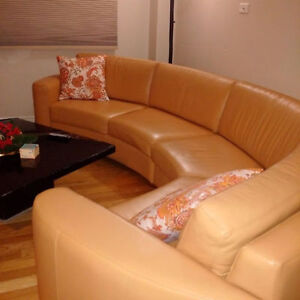 -=Italian Genuine Leather Modern Sectional Couch / Sofa=-