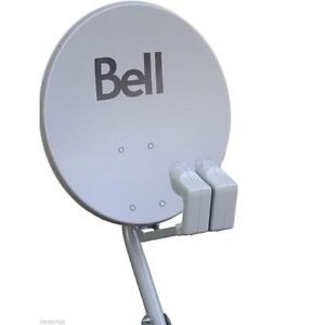 New Bell Satellite Dish with SW21 and Dish Network LNBs
