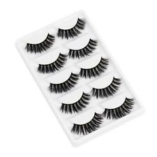 5 Pairs 3D Mink False Eyelashes Wispy Cross Long Thick Soft Fake Eye Lashes