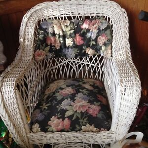 2 antique wicker chairs