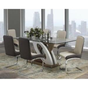 MODERN TEMPERED GLASS DINNING SET  (ND 97)