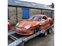 TRANSPORTER INDESPENSION CAR TRAILER 14FT save £200 RECOVERY STOCK CLASSIC TRACTOR RALLY SHOW CARS