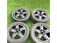 """GENUINE Renault Clio Alloy Wheels & Tyres 15"""" x4 4 Stud Gloss Black DELIVERY AVAILABLE"""