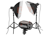 Basic Flash Kit with softboxes 200 W