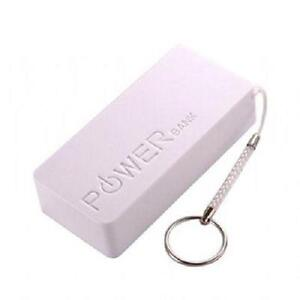 5600 mAh Portable Power Bank with Keychain - White