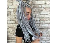 Natural dreads / Fake dreadlocks / D.E. dreads / D.E. braids / Maintenance / Extensions