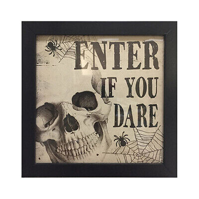 Darice Halloween Enter If You Dare Tabletop Sign: 8 x 7.87 inches w