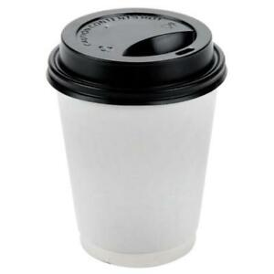 8 oz. Black Hot Paper Cup Travel Lid - 1000 / Case