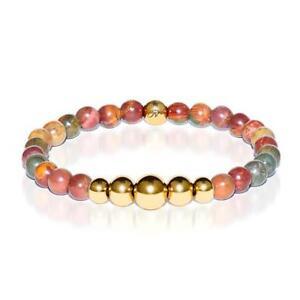 50% OFF All Jewellery - Selfless | Gold Aura Red Picasso Jasper Bracelet