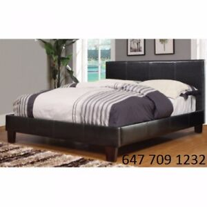 queen/double bed frame with mattress on sale