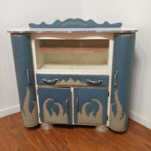 VINTAGE Vitrine/Armoire/Clapier ROCKABILLY Display Cabinet/Bar