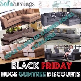 HUGE BLACK FRIDAY DISCOUNTS Cheap Fabric Corner Sofas Available Quick Free Delivery Large or Small