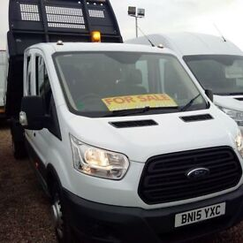 FORD TRANSIT TRANSIT 350 DOUBLE CAB TIPPER 125 L3 NEW MODEL DEC (white) 2015