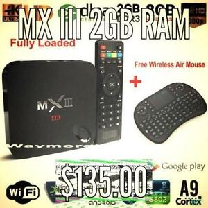 Android Box MX III 2 GB Ram fully loaded w/qwerty keyboard