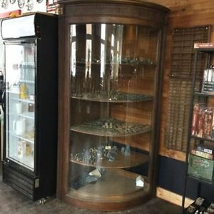 Antique Beautiful Curved-Glass Eaton's Display Case