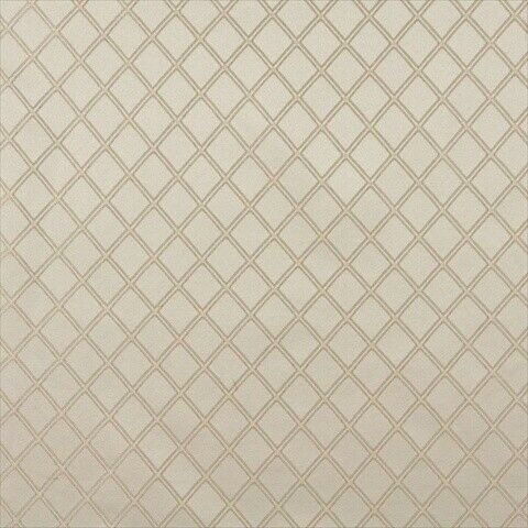 Designer Fabrics E610 54 in. Wide Diamond Ivory And Silver Damask Upholstery And