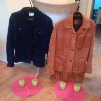 2 SUEDE FALL/WINTER LADIES JACKETS or COATS