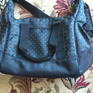 Baby black diaper bag. AVAILABLE