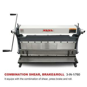 30-Inch Sheet Metal Brake, Shear and Roll