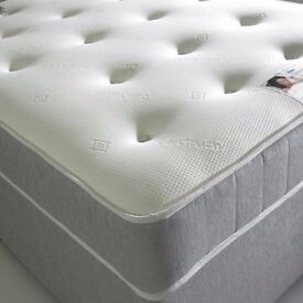 5ft king size 10 inch thick, luxurious Balmoral memory foam top mattress, brand new Free delivery