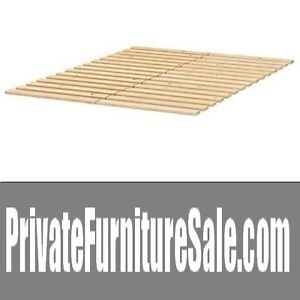 SOLID WOOD Ikea Sultan Lade Slatted Bed Base for Queen Size Beds