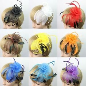 Feather Mesh Fascinators Corsage Hair Piece Hat - New