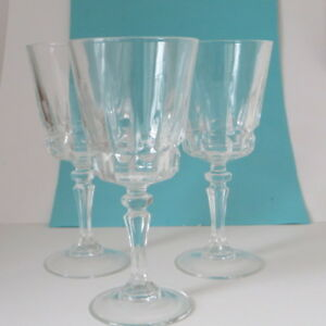 crystal stem ware wine glasses