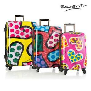 "Heys Britto Hearts Carnival 3pc Set Luggage 21"", 26"" 30"