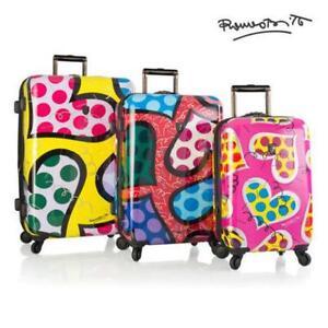 "Heys Britto Hearts Carnival 3pc Set Luggage 21"", 26"" 30"