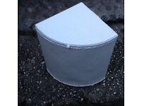 Vintage wicker corner linen bin